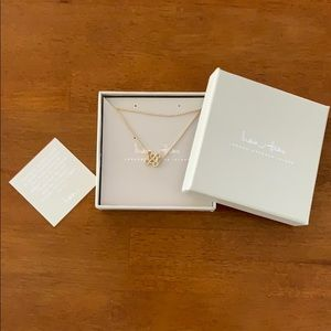 "NWT India Hicks Legacy Letter Gold Necklace ""R"""